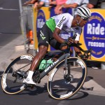 13 January 2019: Nicholas Dlamini of Team Dimension Data during the 2019 Tour Down Under Classic in Adelaide, Australia. (Photograph by Tim de Waele/Getty Images)