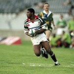 6 March 1999: Ian Fihlani running with the ball during a Vodacom Cup match in Bloemfontein between the Cheetahs and the Bulldogs. (Photograph by Duif du Toit/Gallo Images)