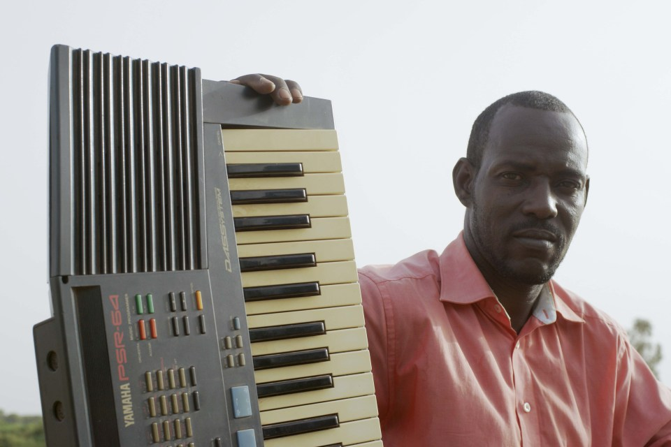 19 June 2016: Hama used the same Yamaha PSR-64 keyboard he bought as a boy to record his debut album, 'Torodi', which came out in 2015. (Photograph by Christopher Kirkley)