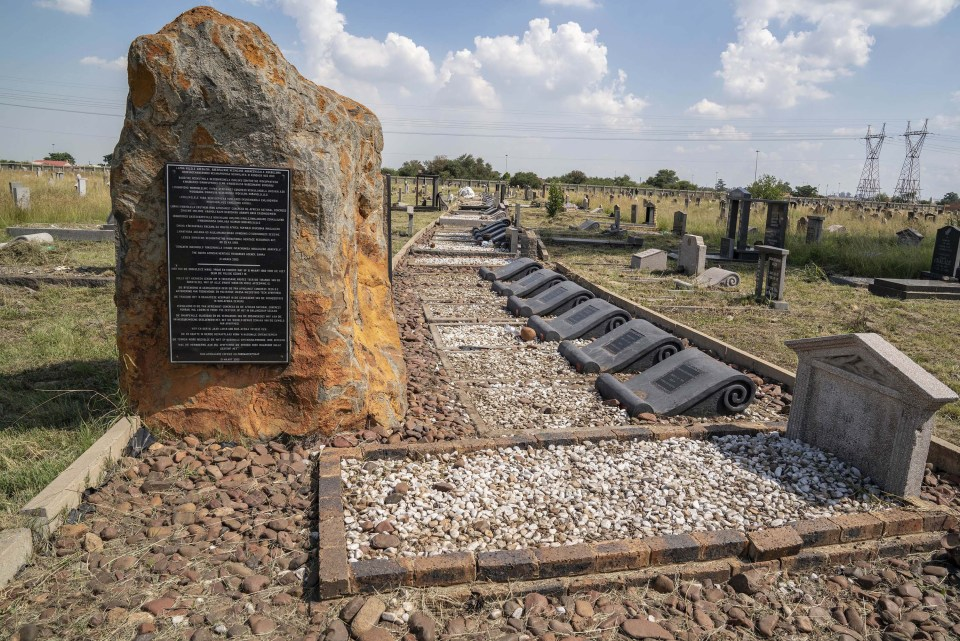 13 March 2019: The Phelindaba cemetery gravesite of those killed during the Sharpeville massacre in 1960.