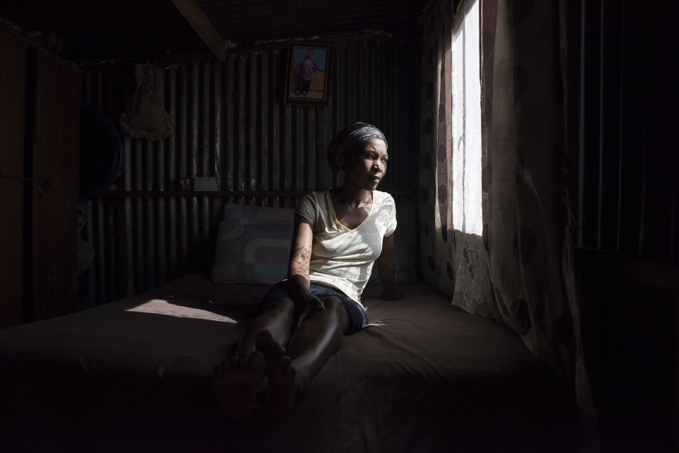 24 July 2018: Princess May Pela had a stall in Eloff Street in downtown Johannesburg but her stock was repossessed after she could not afford to pay her debt. She is seen here in her home in Orange Farm south of Johannesburg