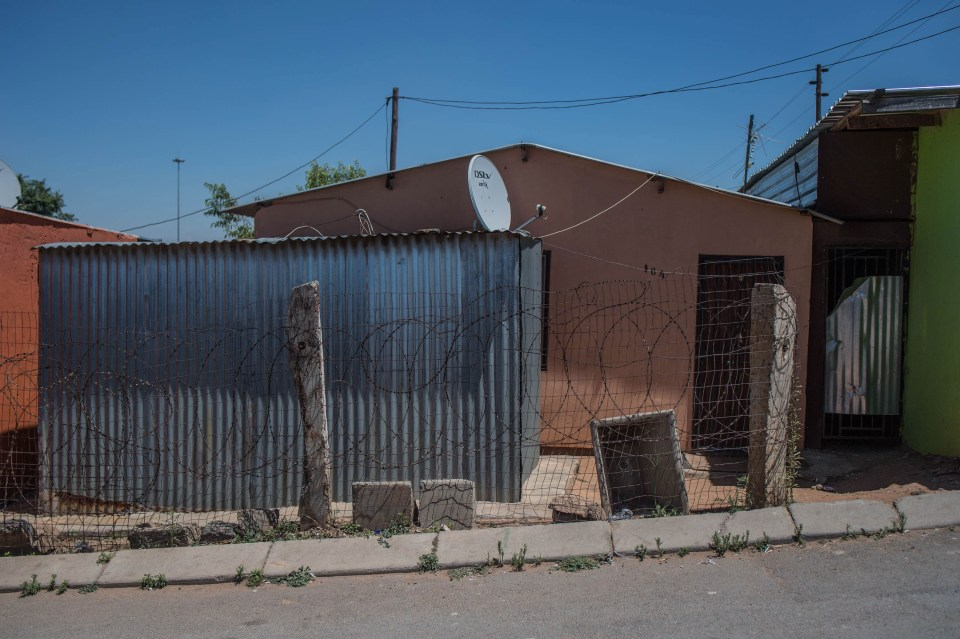 8 November 2018: Shacks are common in the backyards of formal houses in Soweto.