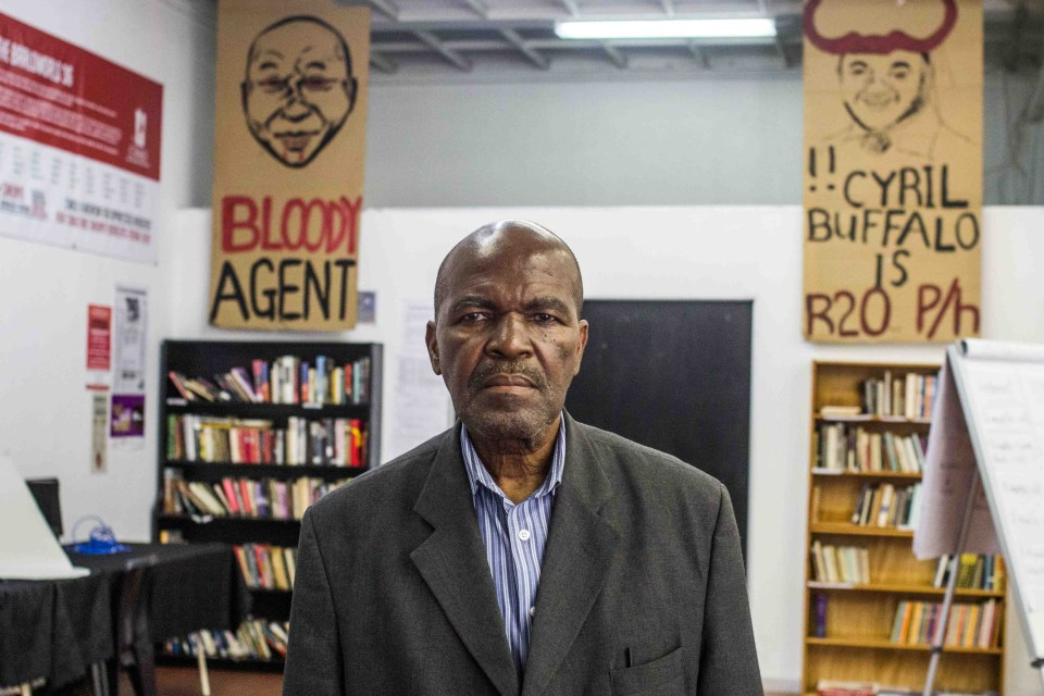 15 November 2018: Phikizwe Mkhwanazi, who has worked at Luxor Paints for 15 years, was sitting down eating his lunch when violence broke out during the workers protest. His job now hangs in the balance.