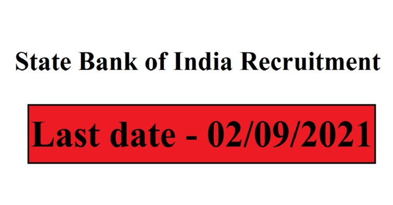 State Bank of India Recruitment 2021 Apply Online