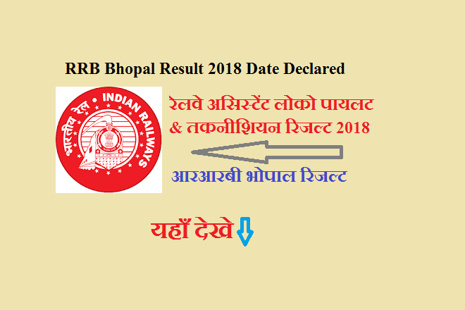 RRB Bhopal ALP Result 2018