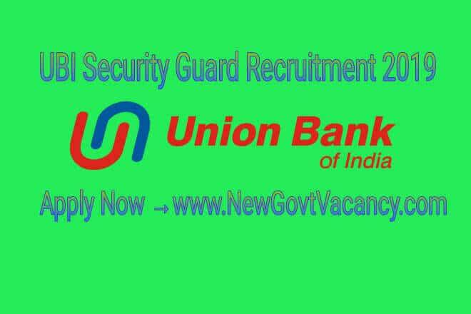 UBI Recruitment 2019