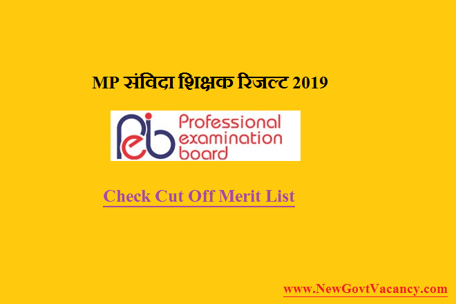 mp samvida shikshak result 2019