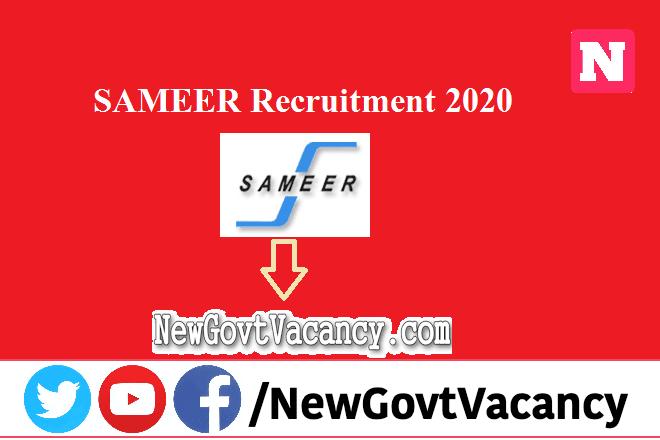 SAMEER Recruitment 2020