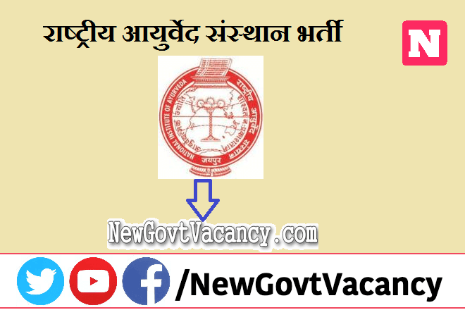 National Institute of Ayurveda Recruitment 2021