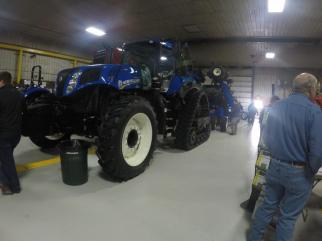 The NH T8 tractor with SmartTrax was on display