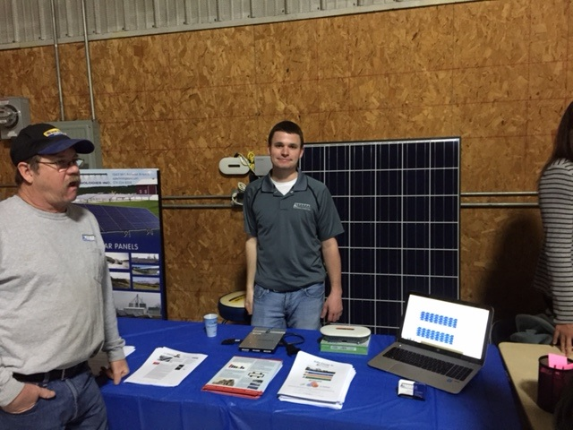 Solar Sales Specialist Mike Straeter spoke with many customers about solar panel opportunities for at home and on the farm