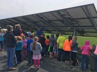 1st Graders Solar Visit 4-22-16
