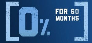 0% for 60 Months Promotion
