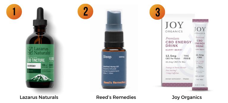 Lazarus Naturals, Reed's Remedies, Joy Organics