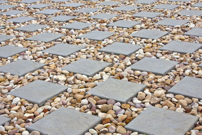 12865920 - square paving with small stones in between