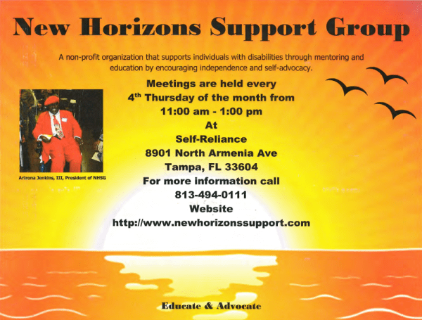 New Horizons Support Group Flyer