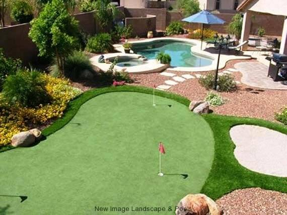 Get A Backyard Putting Green At Home | New Image Landscape ... on Putting Green Ideas For Backyard id=24831