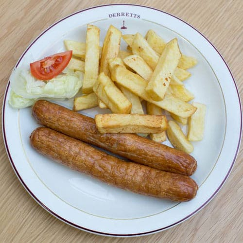 2 x Sausages & Chips