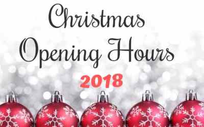 Opening Hours: Christmas and New Years 2018