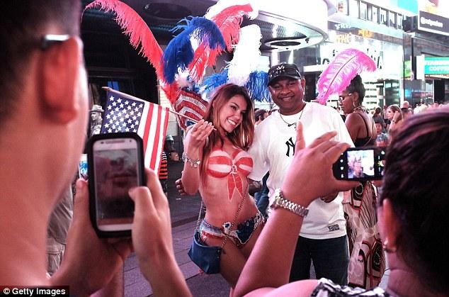hot topless women new york