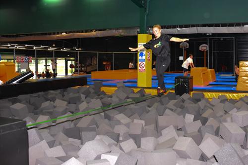 Slackline trampoline à Rennes