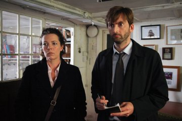 Photo Broadburch David Tennant, Olivia Colman