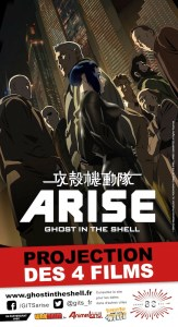 Arise Ghost in the shell Affiche Nuit Grand Rex Octobre 2014