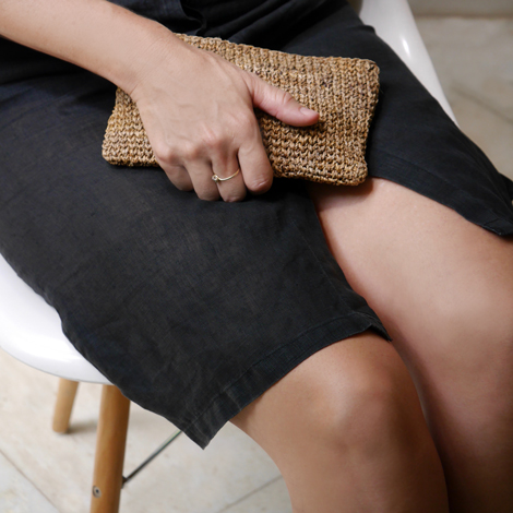 Banana Fiber Clutch. Common Texture. New Labels Only