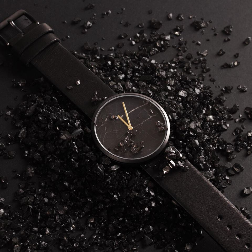 Maven Watches Enduring series. Marble watch. Marble dial watch