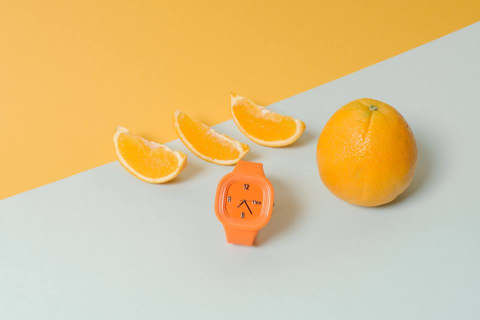 Flex Watches. New Labels Only. Orange