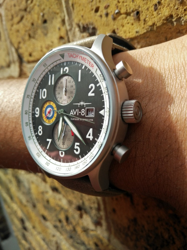 AVI 8 Hurricane Hawker. AV 4011 0G. New Labels Only Review. One of the best watch under £200