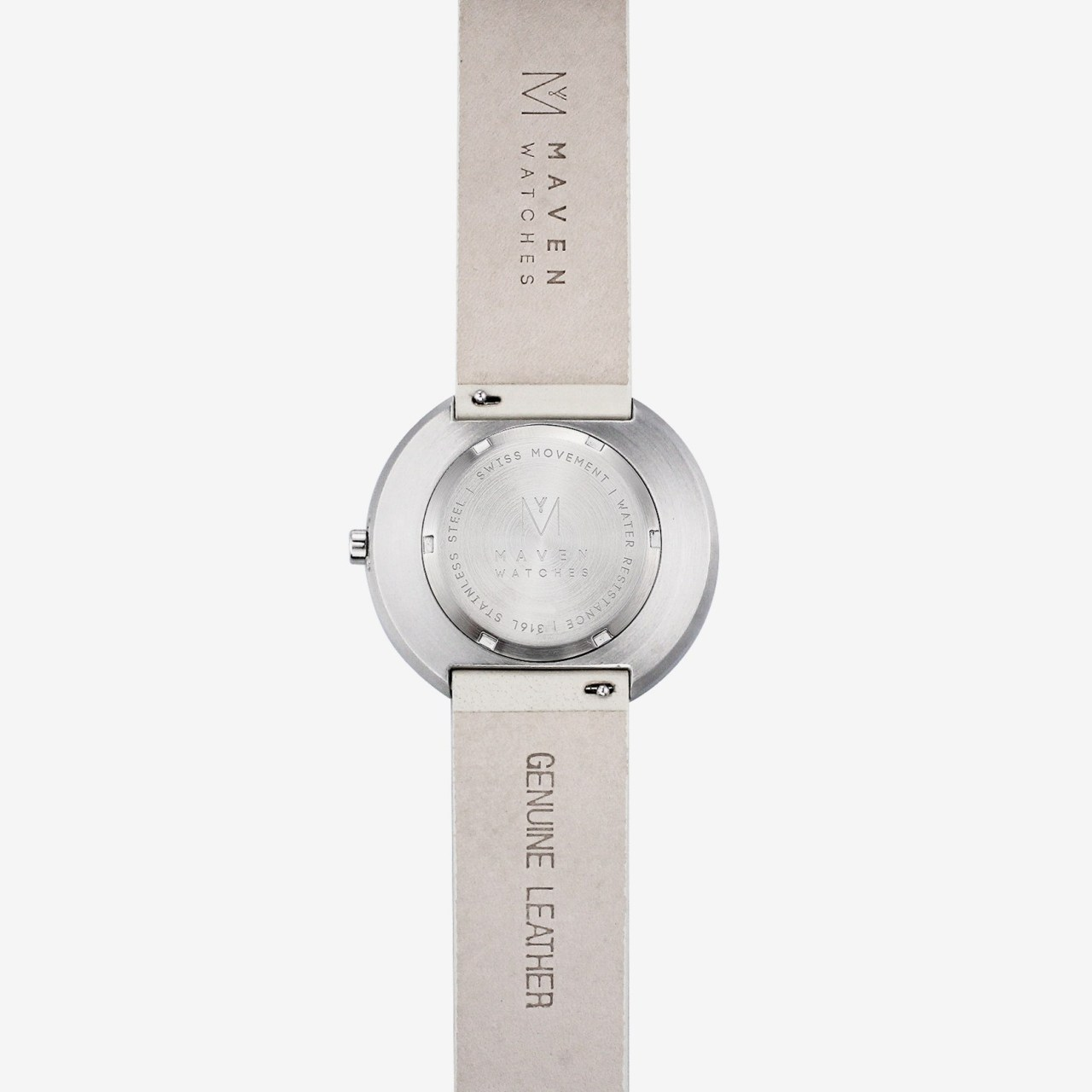 Maven Watches Back Casing. Engraving. Personal Watches. Personalised watches.