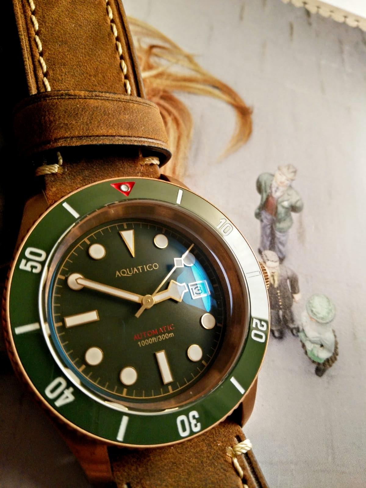 Aquatico Watch Bronze sea