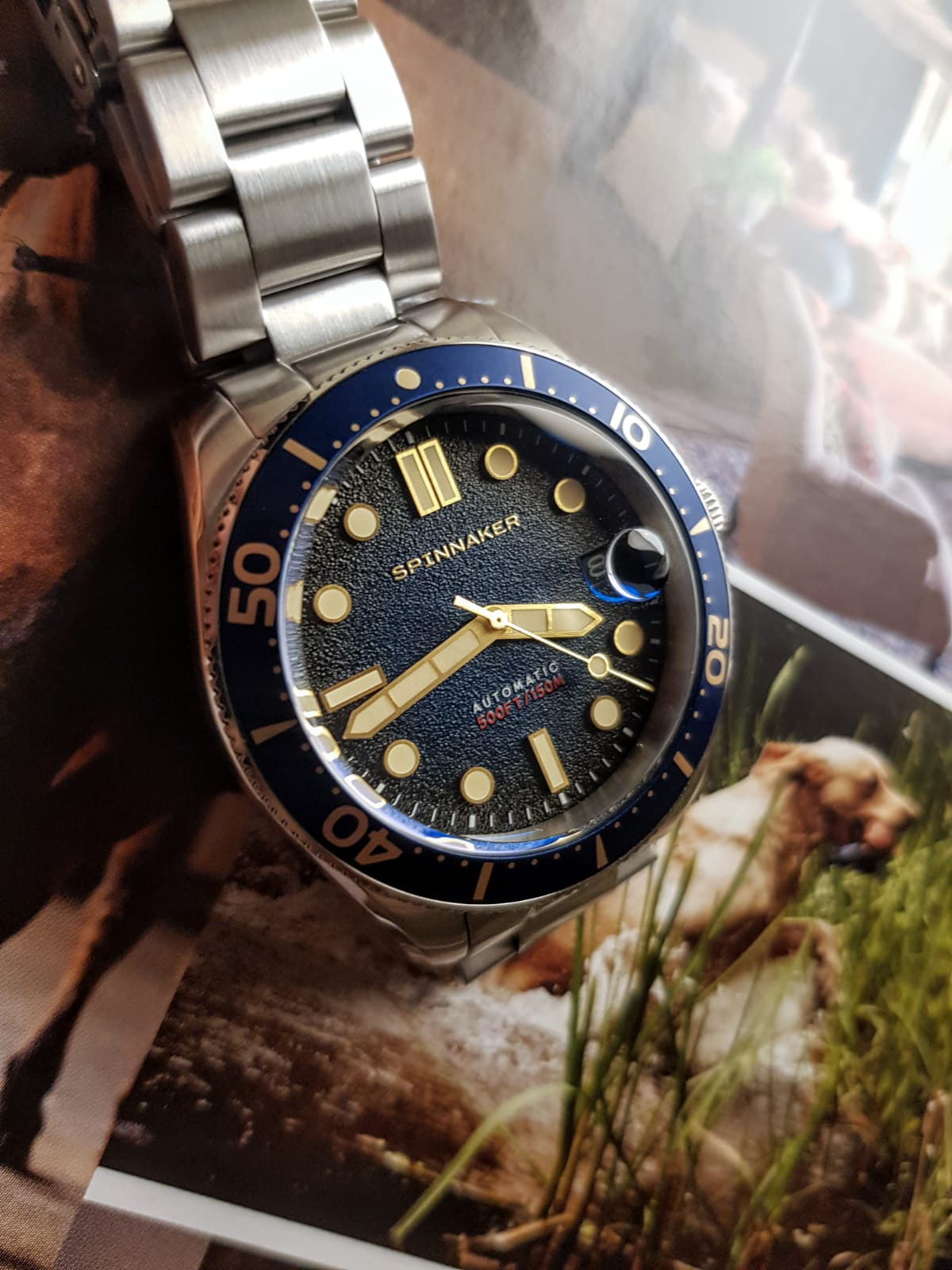 Spinnaker Watches Croft Mid-Size Blue dia