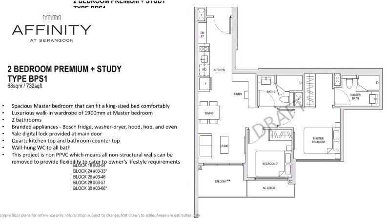 affinity floor plan 2bedroom+study