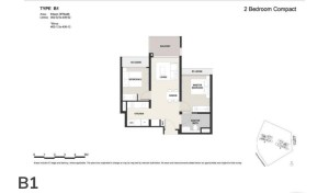 Clavon 2 bed floor plan