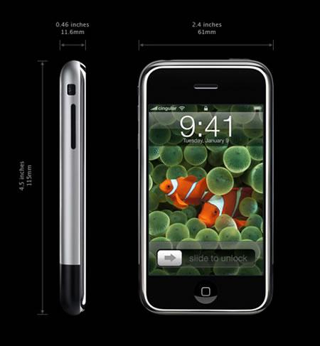 Caracter�sticas del Iphone de primera generación