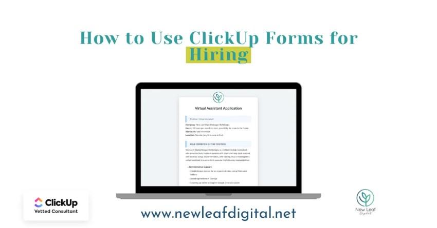 Using a ClickUp Form to Hire a VA