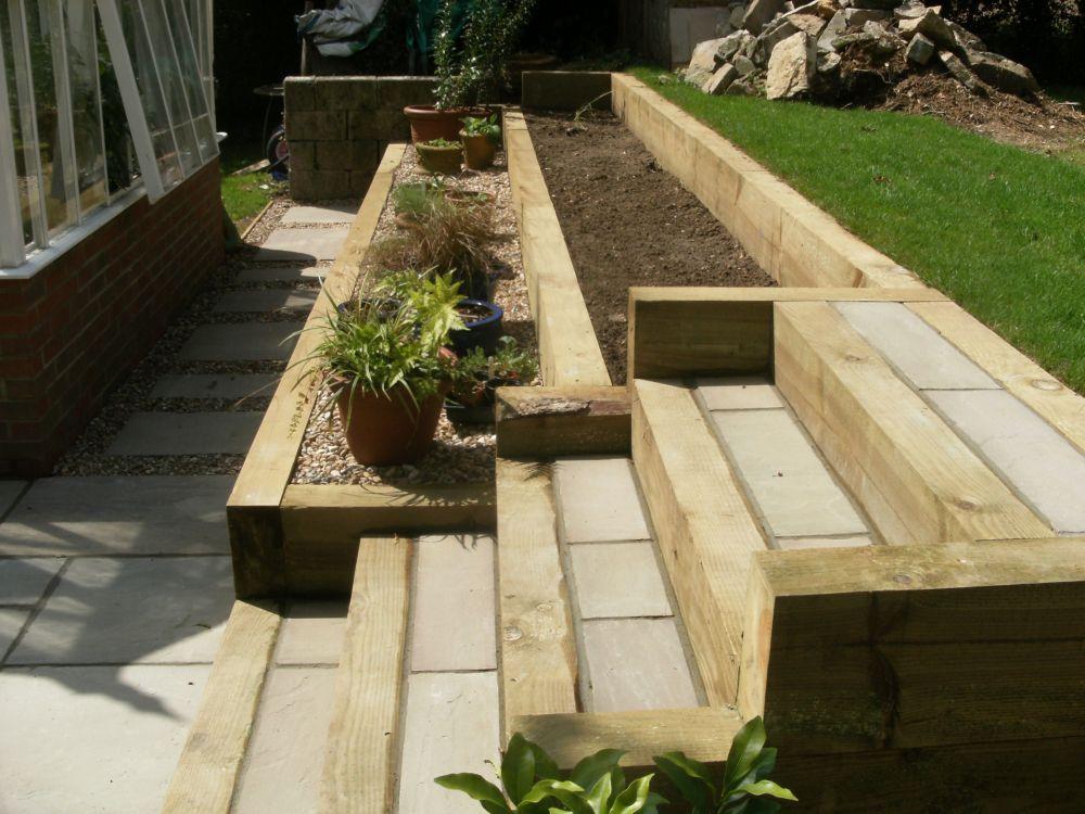 Garden Design Portfolio - Materials and Features - Raised ... on Split Garden Ideas id=49513