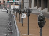 Parking Meters and Barricades 007