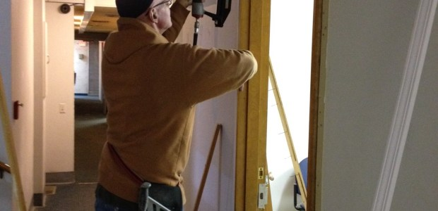 Yesterday was door trim day for all the doors in the building. We recently purchased a finish nailer and the guys here love the quality and convenience of having the right tools for the job. Volunteers with carpentry experience are […]