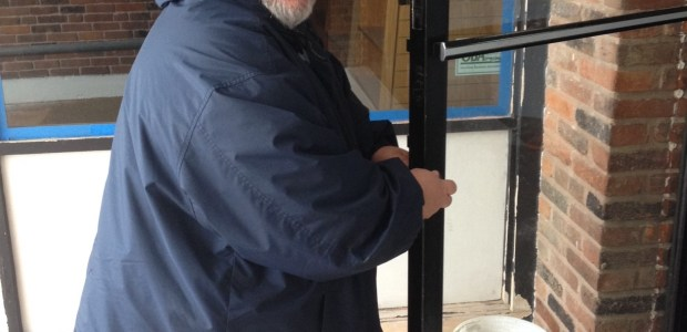 On Monday, our locksmith began bringing our doors up to fire code and other adjustments needed. Special thanks to Ray with A and E Lock who has been very helpful with keeping our costs low and providing excellent customer service.