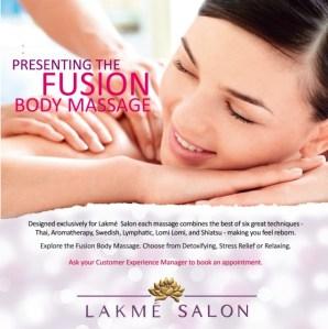 Lakmé Studios New Fusion Massage