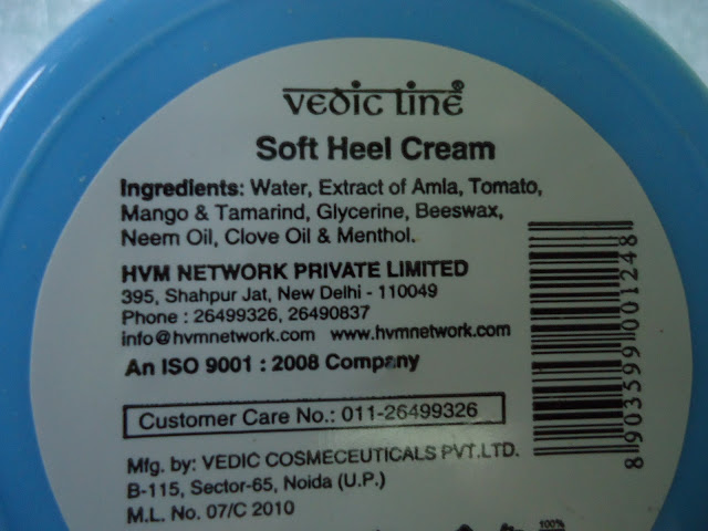 Vedic Line Soft Heel Cream Review