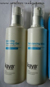 Kaya Balancing Cleansing Gel and Rebalancing Mist Review