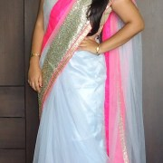 OOTD: Gray Fuchsia Glitter Saree (Imaginary Red Carpet ?)