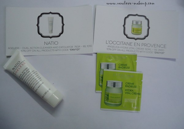 August My Envy Box Review, Indian Makeup and Beauty Blog, L'Occitane, Natio