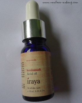 Iraya Kumkumadi Tailam (Facial Oil) Review, Skincare, Indian Beauty Blog