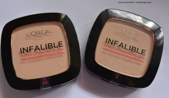 L'Oreal Paris Infallible 24H Powder Foundation Review,Swatches,Demo