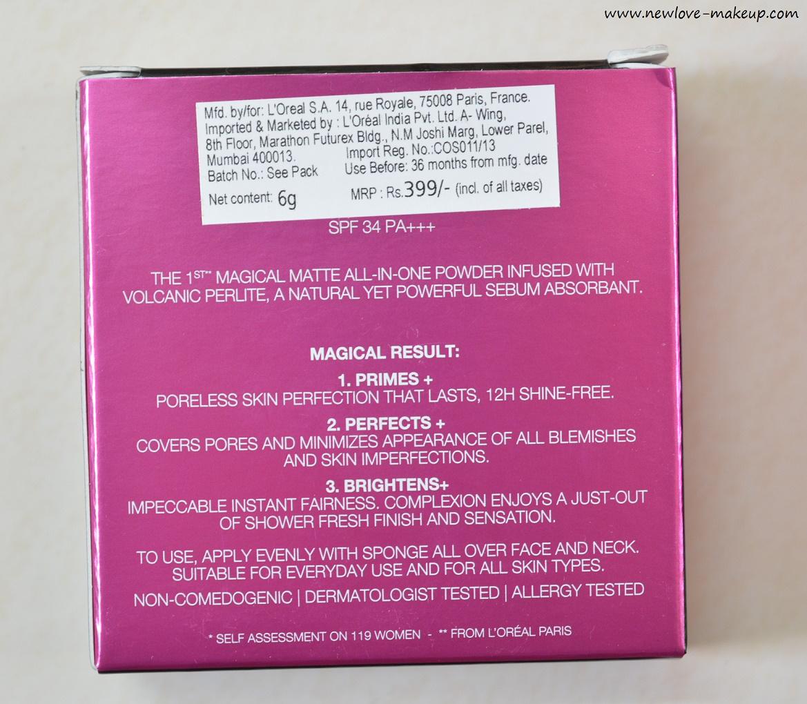 L Oreal Paris Mat Magique Compact Powder Review Swatches